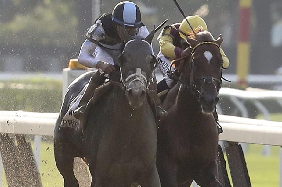 Tapwrit, à gauche, a devancé par une tête... (Photo Mary Altaffer, AP)