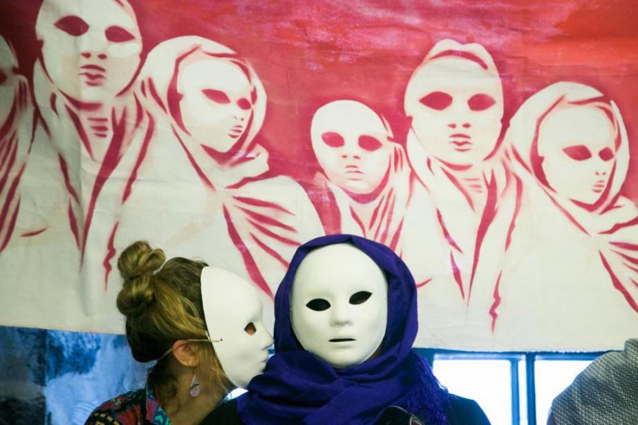 Marcia lors d'un événement de Solidarité sans frontières... (PHOTO MARTIN TREMBLAY, LA PRESSE)