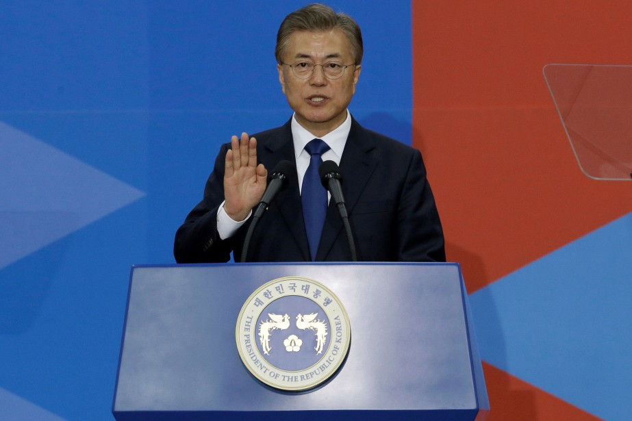 Moon Jae-in... (Photo Ahn Young-joon, archives REUTERS)