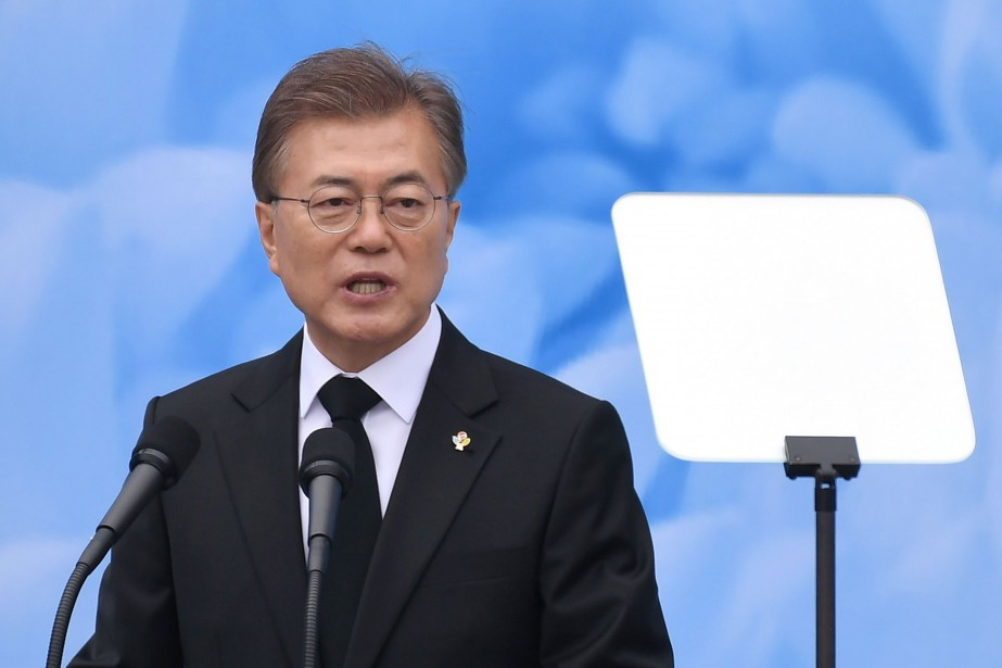 Moon Jae-In... (PHOTO JUNG YEON-JE, ARCHIVES Agence France-Presse)
