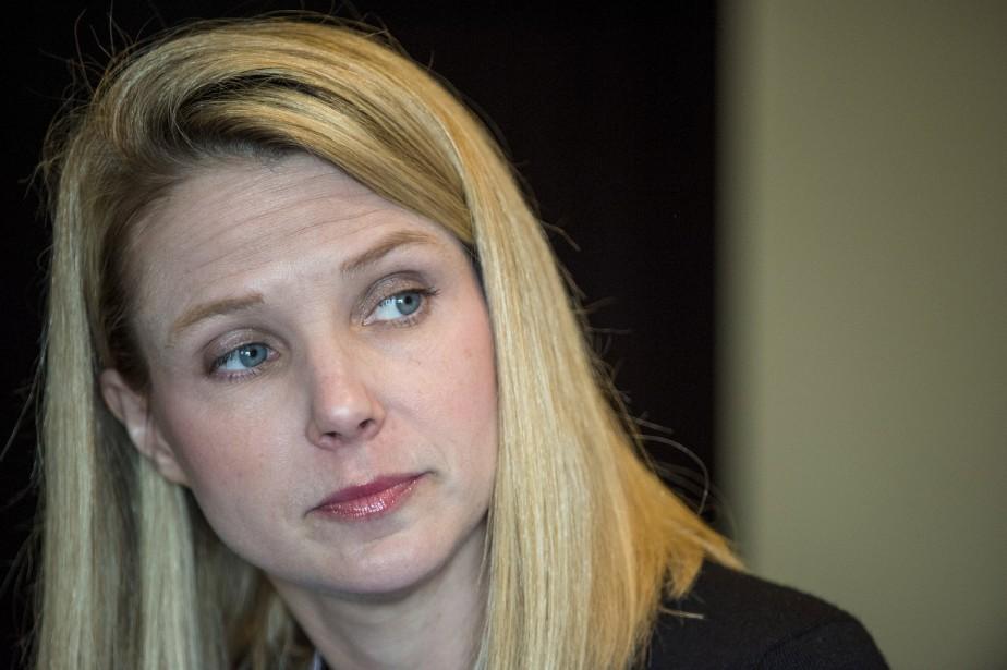 Arrivée à la tête de Yahoo! en 2012... (La Presse Bloomberg)