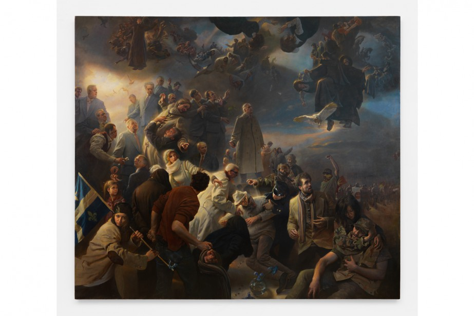 Le tableauQuebec, de l'artiste américain AdamMiller, proposeun condensé... (Image fournie par l'artiste)