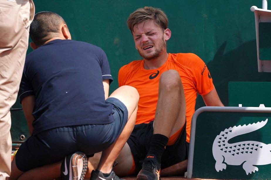 Le Belge David Goffin s'est blessé à une... (Photo Gabriel BOUYS, AFP)