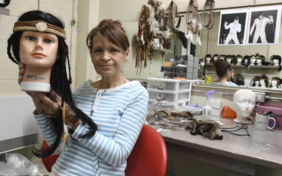 Pauline Simard, responsable des coiffures. (Le Quotidien, Michel Tremblay)