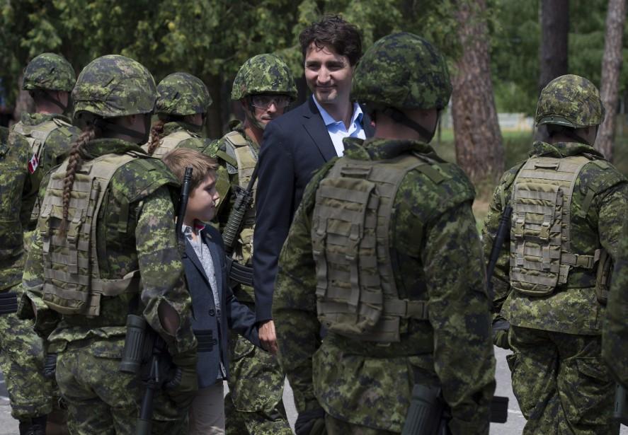 Le premier ministre du Canada Justin Trudeau et... (ARCHIVES PC)