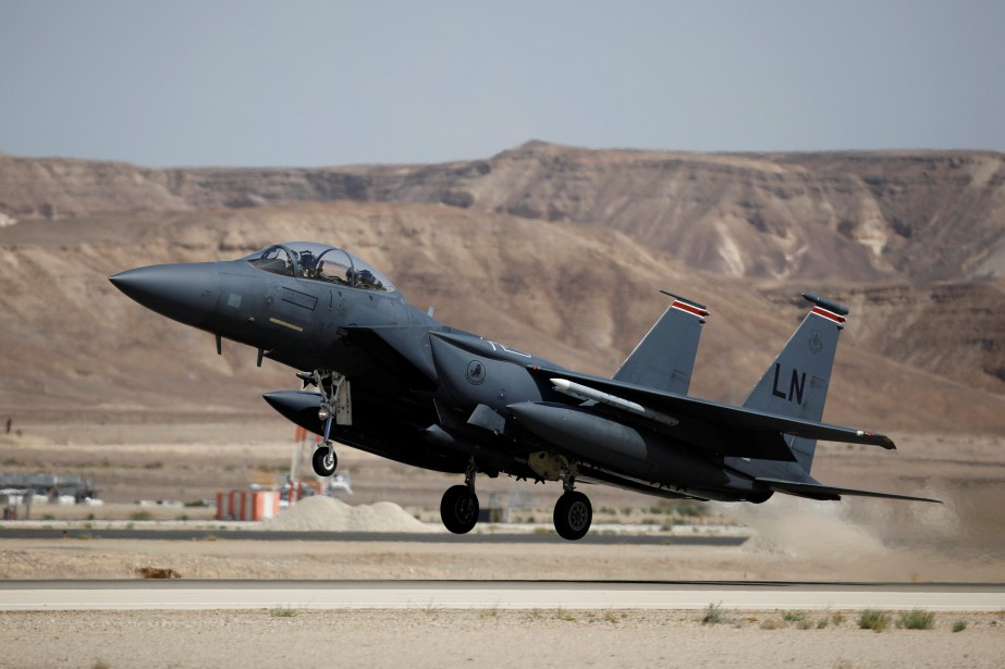 Un avion de chassse F-15.... (ARCHIVES REUTERS)