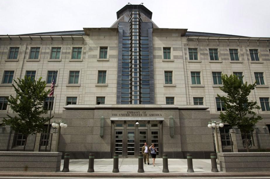 L'ambassade des États-Unis au Canadaest située à Ottawa.... (ARCHIVES BLOOMBERG)