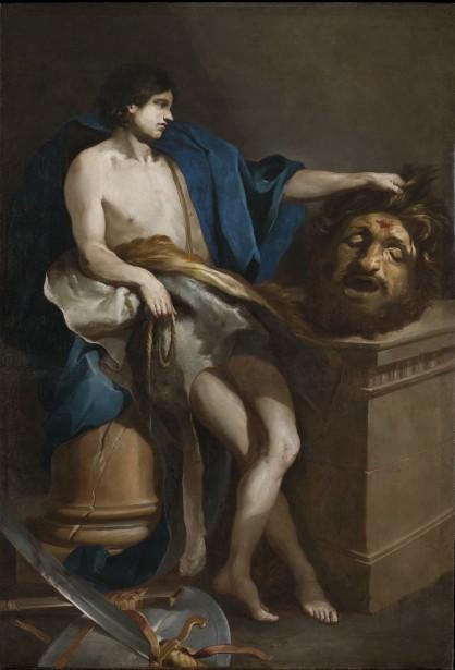 David contemplant la tête de Goliath,  1671. | 14 juin 2017