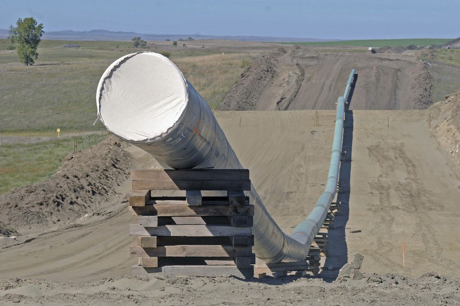 Le pipeline Dakota Access en construction.... (Photo archives Associated Press)