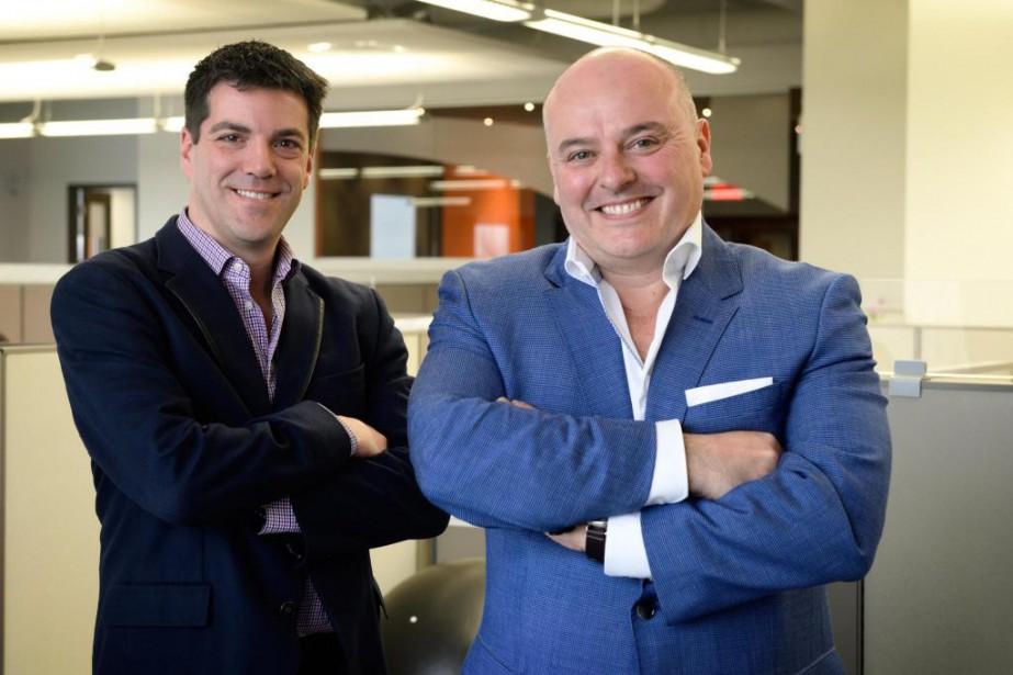 Christian Watier (à gauche) et Luc Brousseau, cofondateurs... (Photo Bernard Brault, Archives La Presse)
