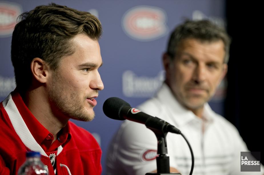 Marc Bergevin (à droite) a échangé son meilleur... (Photo David Boily, La Presse)