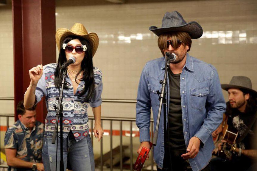 Miley Cyrus etJimmy Fallon ont offert une performance... (capture d'écran)