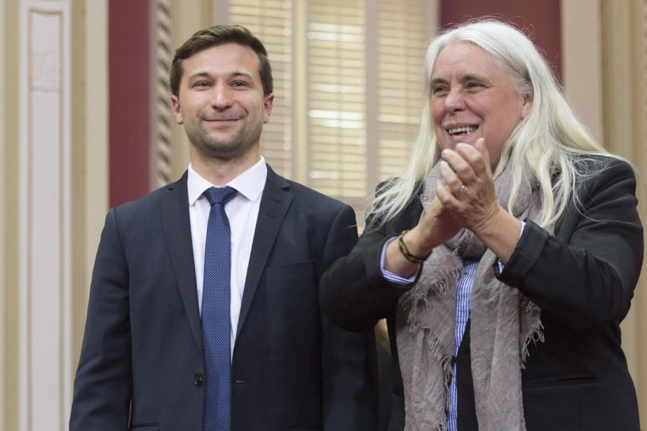 Manon Massé et Gabriel Nadeau-Dubois reconnaissent que Québec... (THE CANADIAN PRESS)