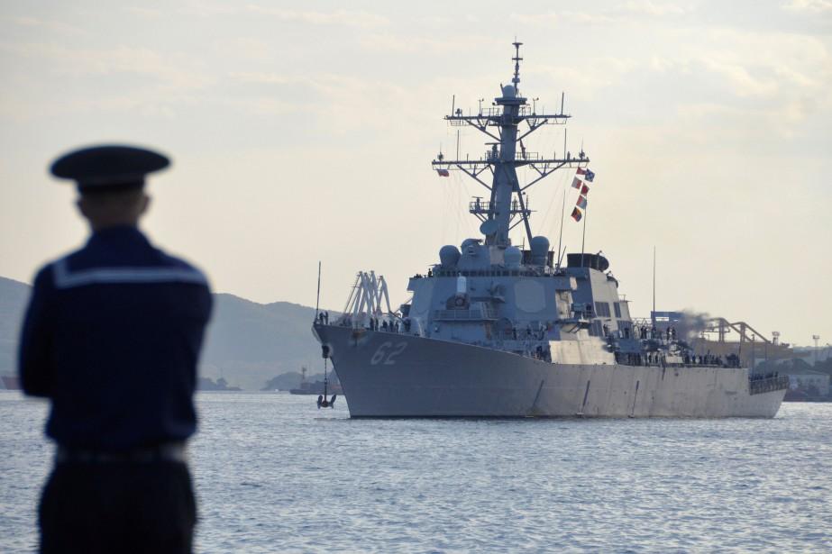 Le USS Fitzgerald est entré en collision avec... (Photo Yuri Maltsev, REUTERS)