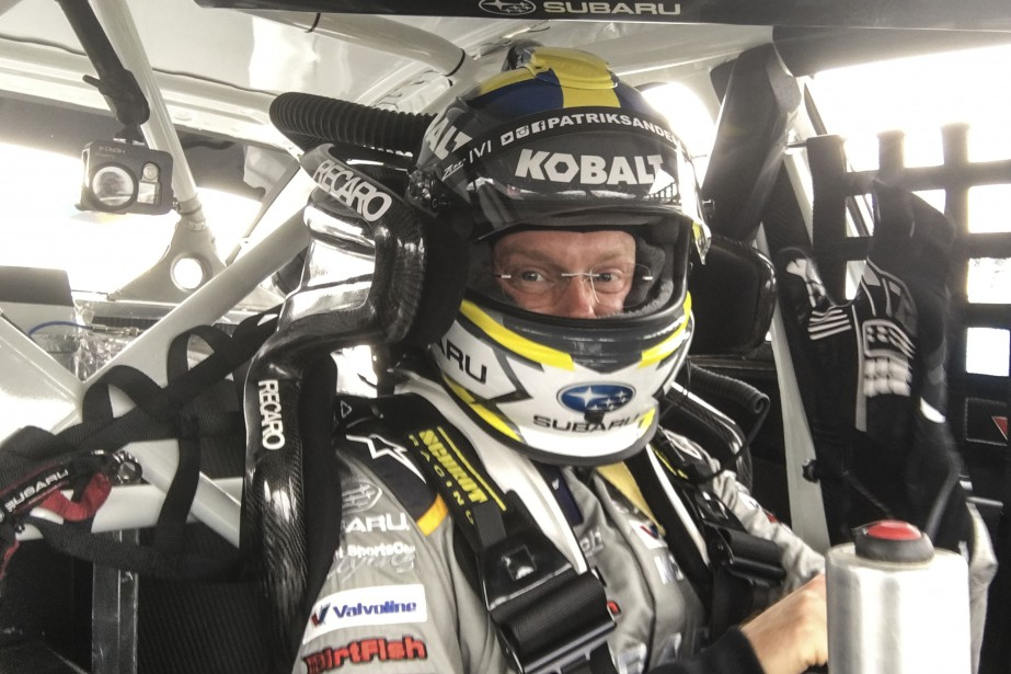 Le suédois de l'écurie Subaru Rally Team USA s'amuse en piste. | 16 juin 2017