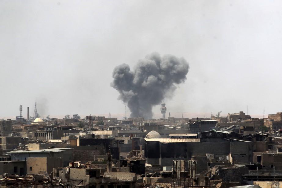 Une vue de la vieille ville de Mossoul.... (Photo Ahmad Al-Rubaye, Agence France-Presse)