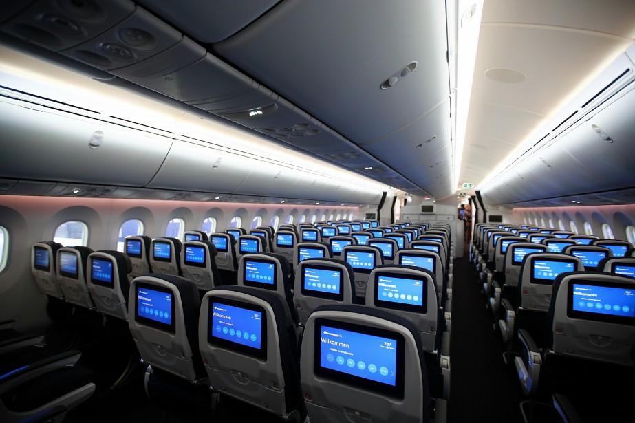L'intérieur d'un 787-9 Dreamliner de Boeing.... (La Presse)