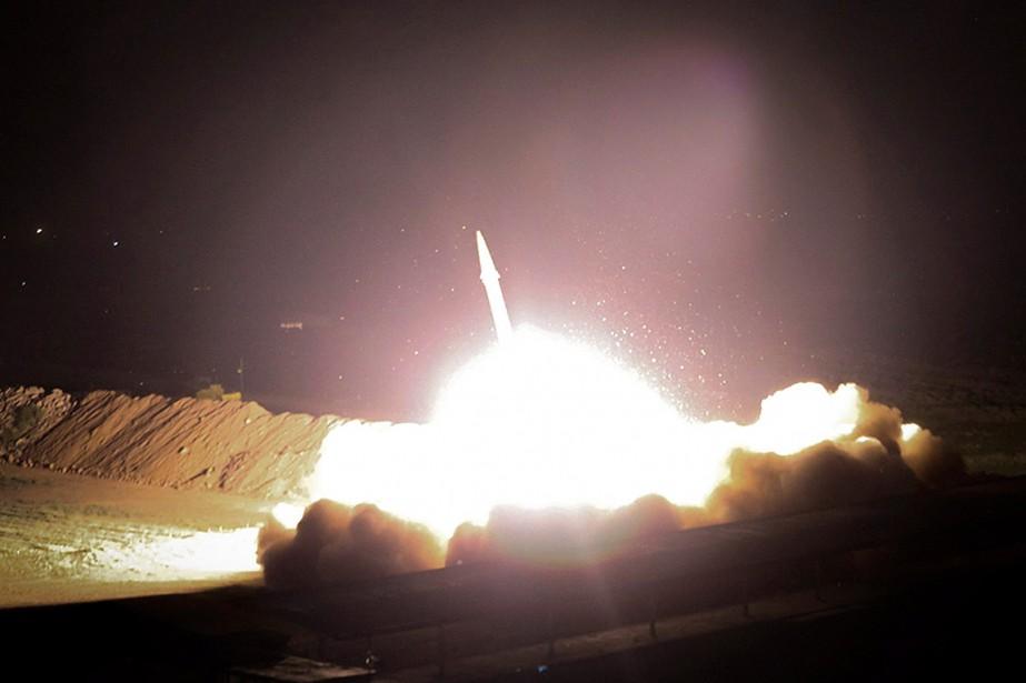 L'Iran a lancé six missiles en territoire étranger,... (Photo Morteza Fakhrinejad, AP/IRIB)