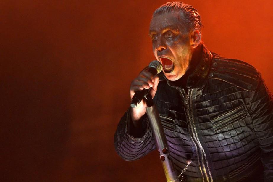 Le chanteur de Rammstein, Till Lindemann, au Festival... (Photo Yan Doublet, archives Le Soleil)