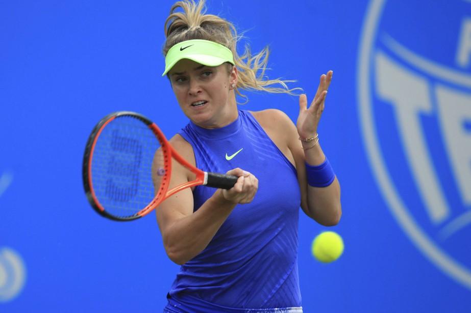 Elina Svitolina a tenu tête àHeather Watson en... (PHOTO AP)