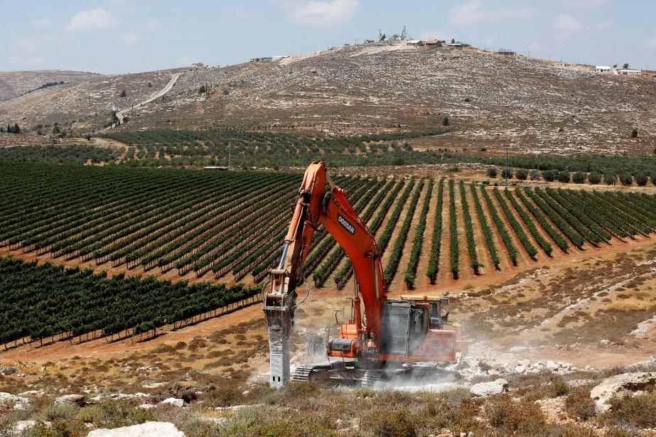 La colonie d'Amichai, la première dont la construction... (PHOTO REUTERS)