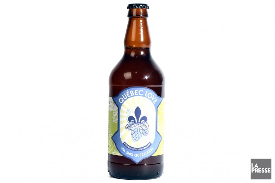 La nouvelle bière québécoise Québec Love, parfaite pour... (PHOTO BERNARD BRAULT, LA PRESSE)