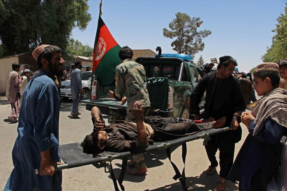 L'explosion a également fait une soixantaine de blessés,... (AFP)