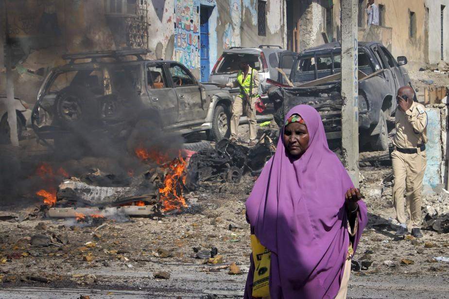 «L'explosion a été provoquée par une voiture remplie... (AP)