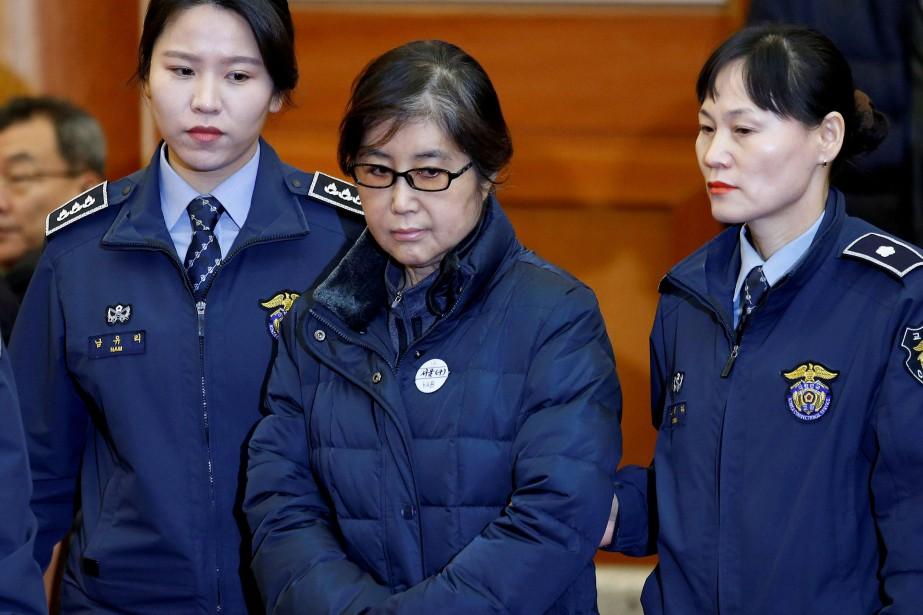 Choi Soon-sila été jugée coupable vendredi d'avoir versé... (PHOTO ARCHIVES REUTERS)
