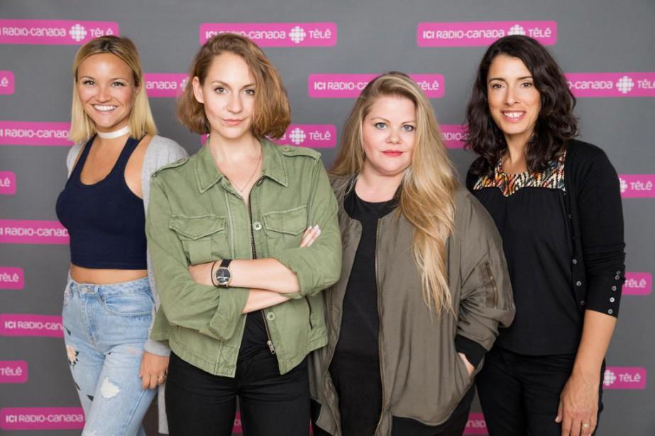 Julie Ringuette, Léane Labrèche-Dor, Geneviève Schmidt et Marie-Hélène... (Photo fournie parICI Radio-Canada)