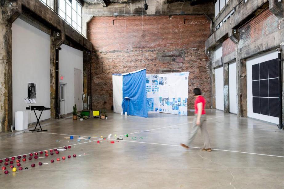 L'exposition TheHouse ofDust d'Alison Knowlesest présentée àlaFonderie Darling... (Photo Marco Campanozzi, La Presse)