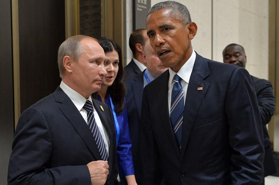 Le président Barack Obama et son homologue russe... (PHOTO ALEXEI DRUZHININ, ARCHIVES AFP/SPUTNIK)