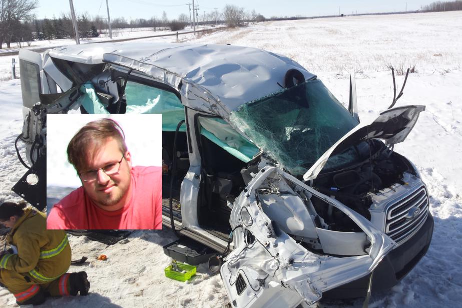 Alexandre Thériault, 28 ans, est mort dans l'accident...