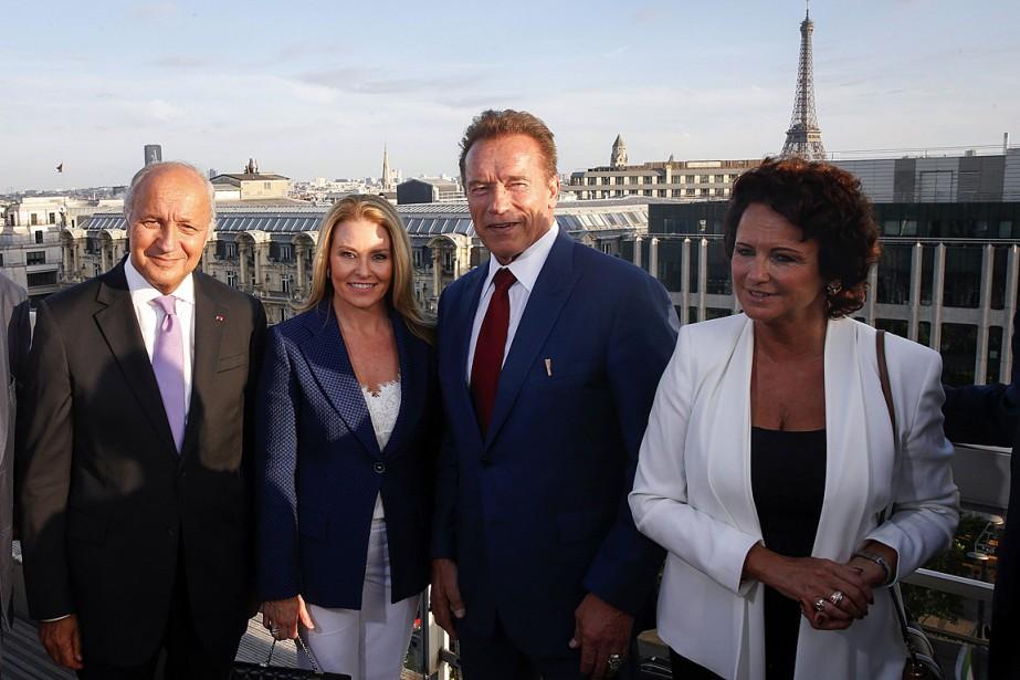 L'acteur et fondateur de l'organisationR20 Arnold Schwarzenegger et... (PHOTO GEOFFROY VAN DER HASSELT, AGENCE FRANCE-PRESSE)