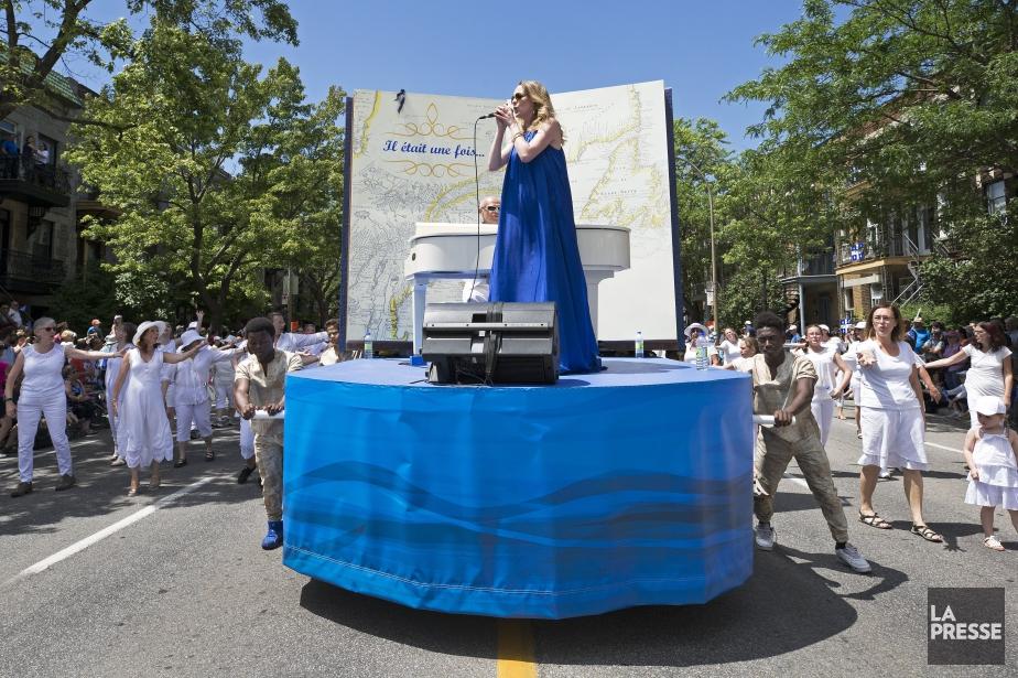 La chanteuse Annie Villeneuve a livré une performance... (PHOTO ROBERT SKINNER, LA PRESSE)