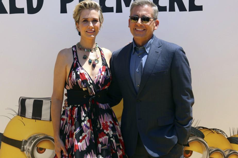 Kristen Wiig et Steve Carell à la première... (Photo Willy Sanjuan, Invision/AP)