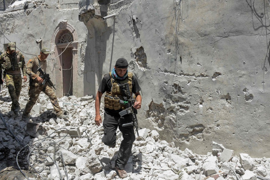 Les forces irakiennes ont lancé une offensive en... (Photo MOHAMED EL-SHAHED, Agence France-Presse)