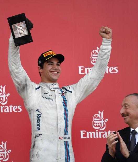 Le Québécois de 18ans est le plus jeune pilote de F1 à monter sur le podium. | 25 juin 2017