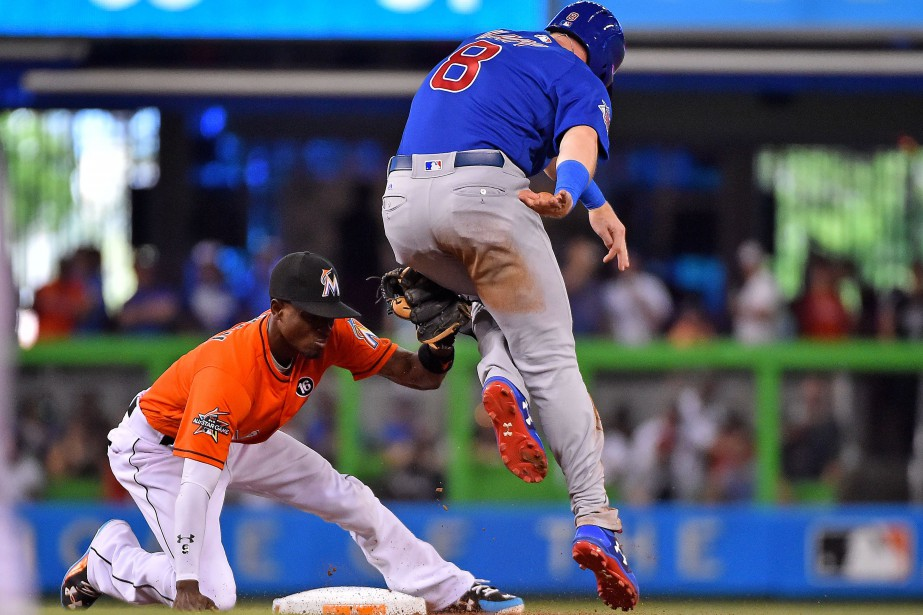 Ian Happ (8) a été retiré par le... (Photo Jasen Vinlove, USA Today Sports)