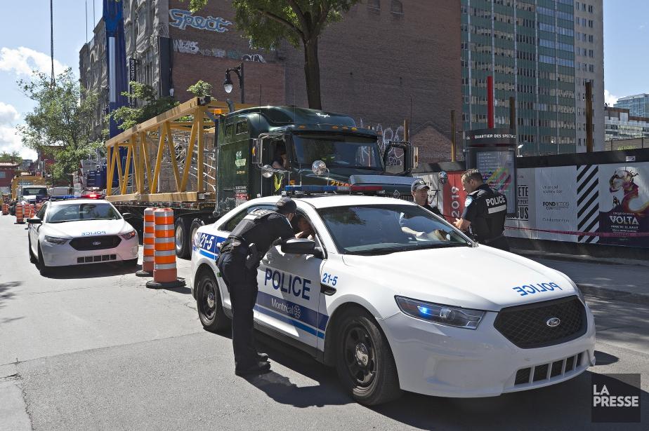 L'accident de travail est survenu vers 9h20 sur... (Photo Patrick Sanfaçon, La Presse)