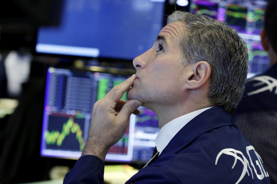 Wall Street a terminé en baisse mardi, le secteur de... (Photo Richard Drew, AP)