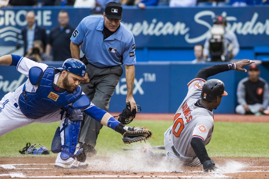 Mark Trumbo, des Orioles, a fait marquer deux... (Photo PC)