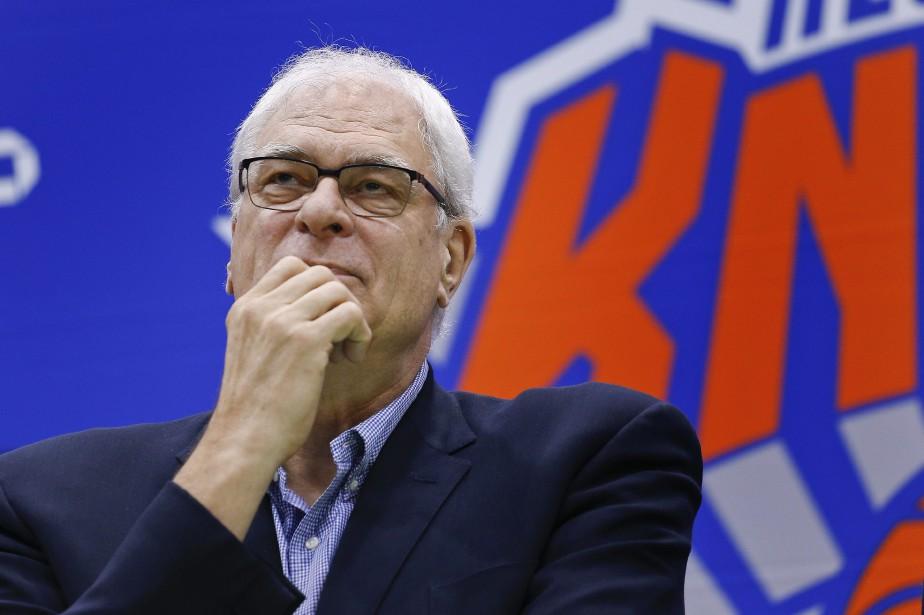 Le président des Knicks de New York,Phil Jackson.... (Photo Julie Jacobson, archives AP)