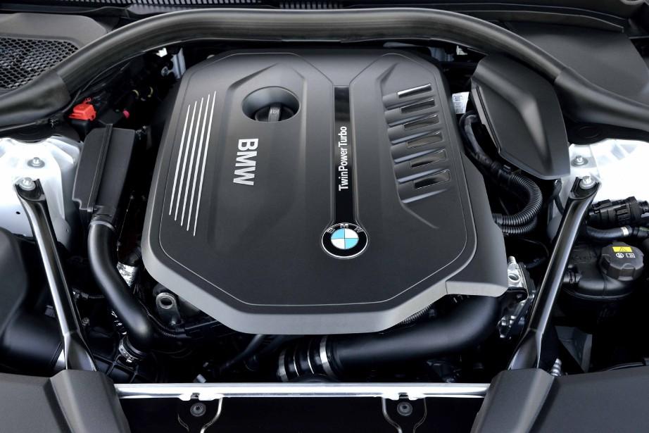 Le moteur de la BMW SéŽrie 5 (Photo fournie par BMW AG)