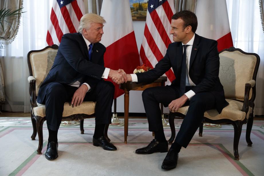 Le président français Emmanuel Macron avait fait couler... (Archives AP)