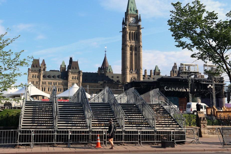 Les principales célébrations de la fête du Canada... (Photo Fred Chartrand, PC)