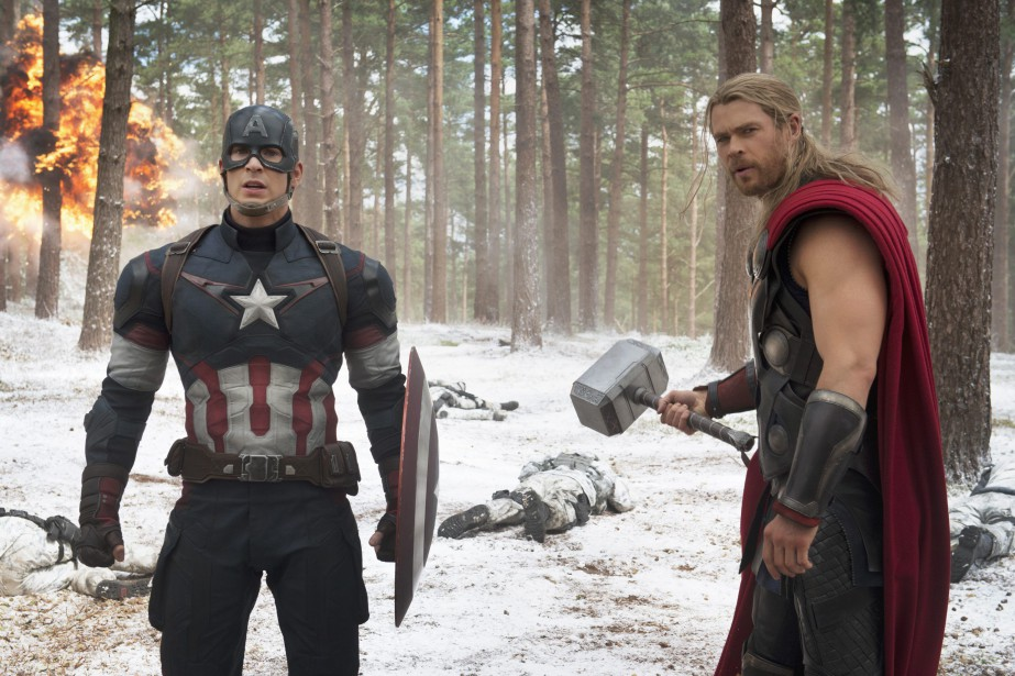 Chris Evans et Chris Hemsworth dans une scène... (PHOTO AP)