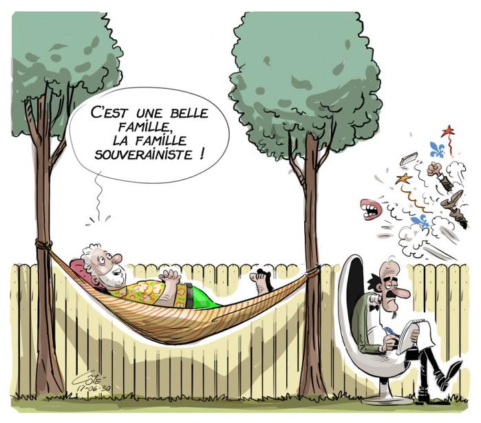 Caricature du 30 juin (Le Soleil, André-Philippe Côté)