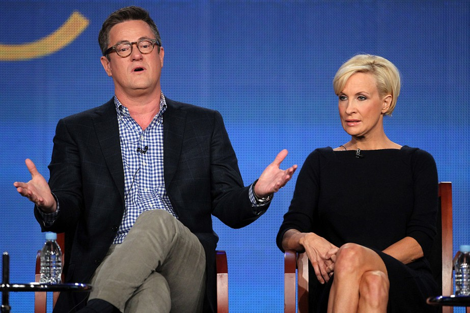 Mika Brzezinski et Joe Scarborough, les deux animateurs... (PHOTO FREDERICK M. BROWN, ARCHIVES AGENCE FRANCE-PRESSE)