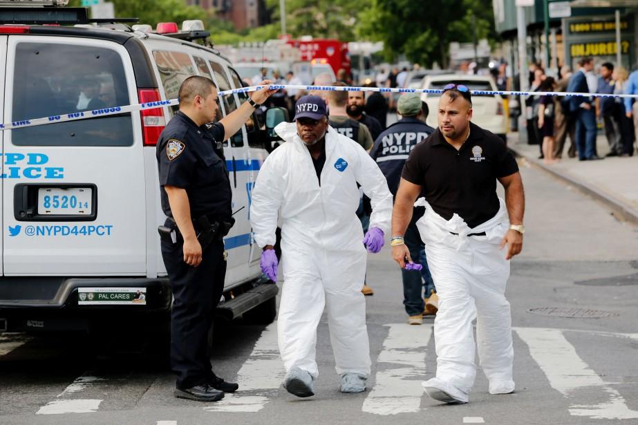 La fusillade a eu lieu peu avant 15... (Photo AFP)